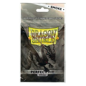 100 Dragon Shield Perfect Fit Sleeves - Smoke