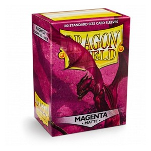 100 Dragon Shield Sleeves - Matte Magenta
