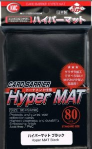 80 KMC Hyper mat Sleeves (Black)