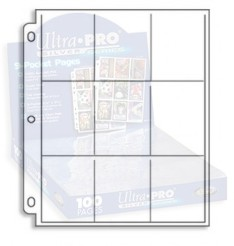 1x Ultra Pro SILVER Nine Pocket Page