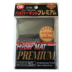 50 KMC Hyper mat Premium Sleeves (Black)