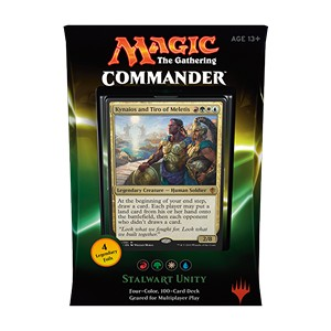 "Commander 2016: ""Stalwart Unity"" Deck (Red/Green/White/Blue)"