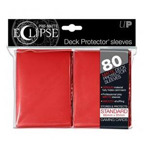 80 Ultra Pro Pro-Matte Eclipse Sleeves (Red)
