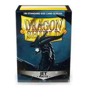 100 Dragon Shield Sleeves - Matte Jet