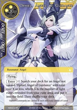 Ophiel, Angel of Guidance (Version 1 - Super Rare)