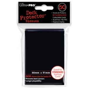 50 Ultra Pro Deck Protector Sleeves (Black)