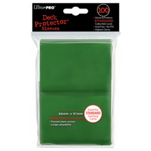 100 Ultra Pro Deck Protector sleeves (Green)