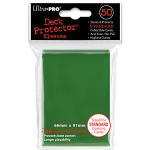 50 Ultra Pro Deck Protector Sleeves (Green)