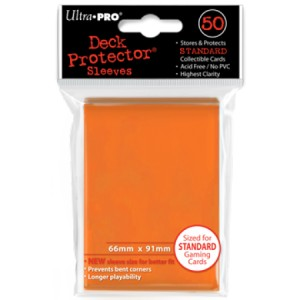50 Ultra Pro Deck Protector Sleeves (Orange)
