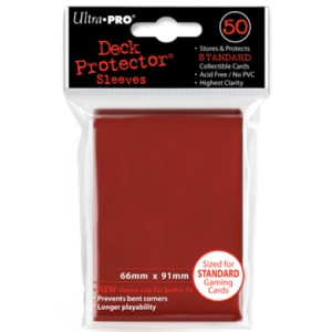 50 Ultra Pro Deck Protector Sleeves (Red)