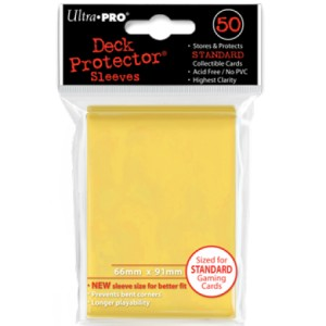 50 Ultra Pro Deck Protector Sleeves (Yellow)