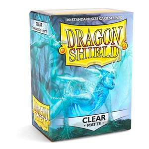 100 Dragon Shield Sleeves - Matte Clear
