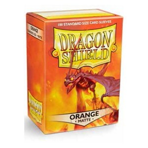 100 Dragon Shield Sleeves - Matte Orange