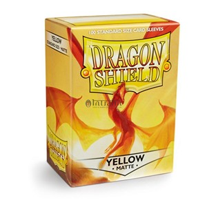 100 Dragon Shield Sleeves - Matte Yellow