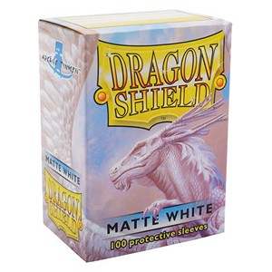 100 Dragon Shield Sleeves - Matte White