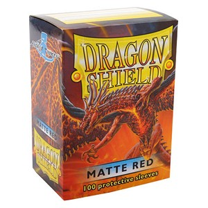 100 Dragon Shield Sleeves - Matte Red