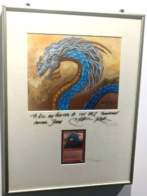 Original Shichifukujin Dragon Artwork and Card